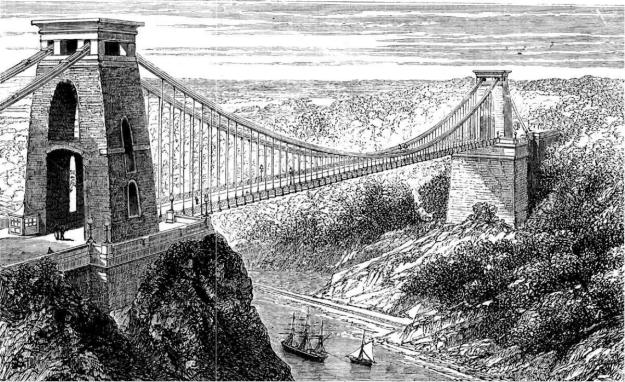 Clifton Suspension Bridge, illustration (public domain)